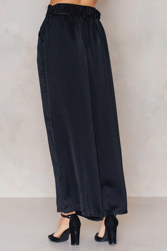 Pia wide pant Black