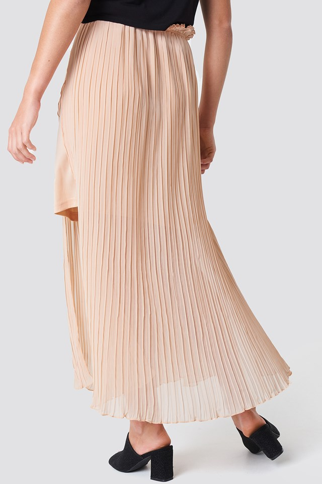 Pleated Frill Skirt Pastel Pink