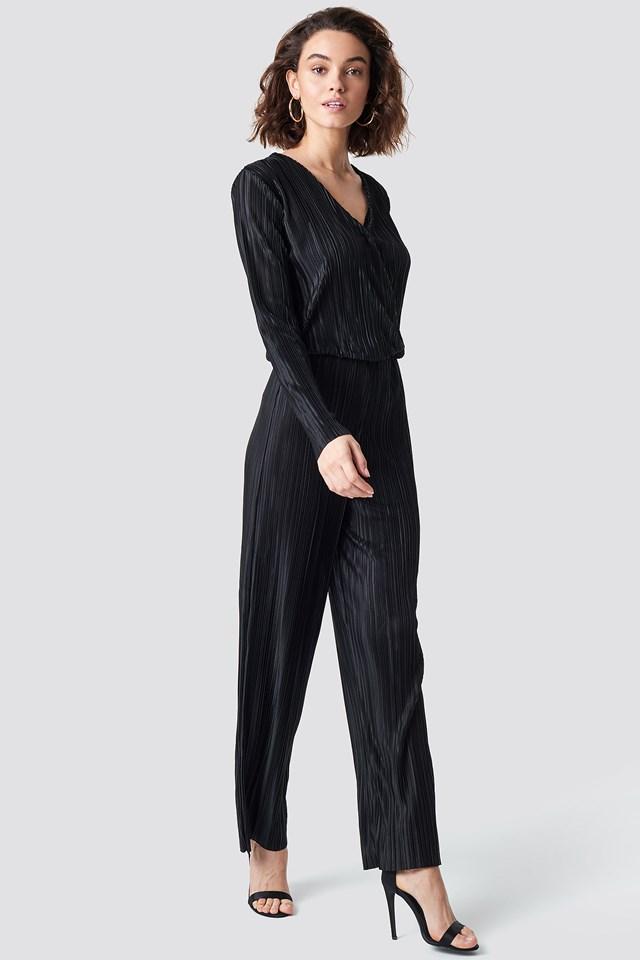 Pleated Jumpsuit Black