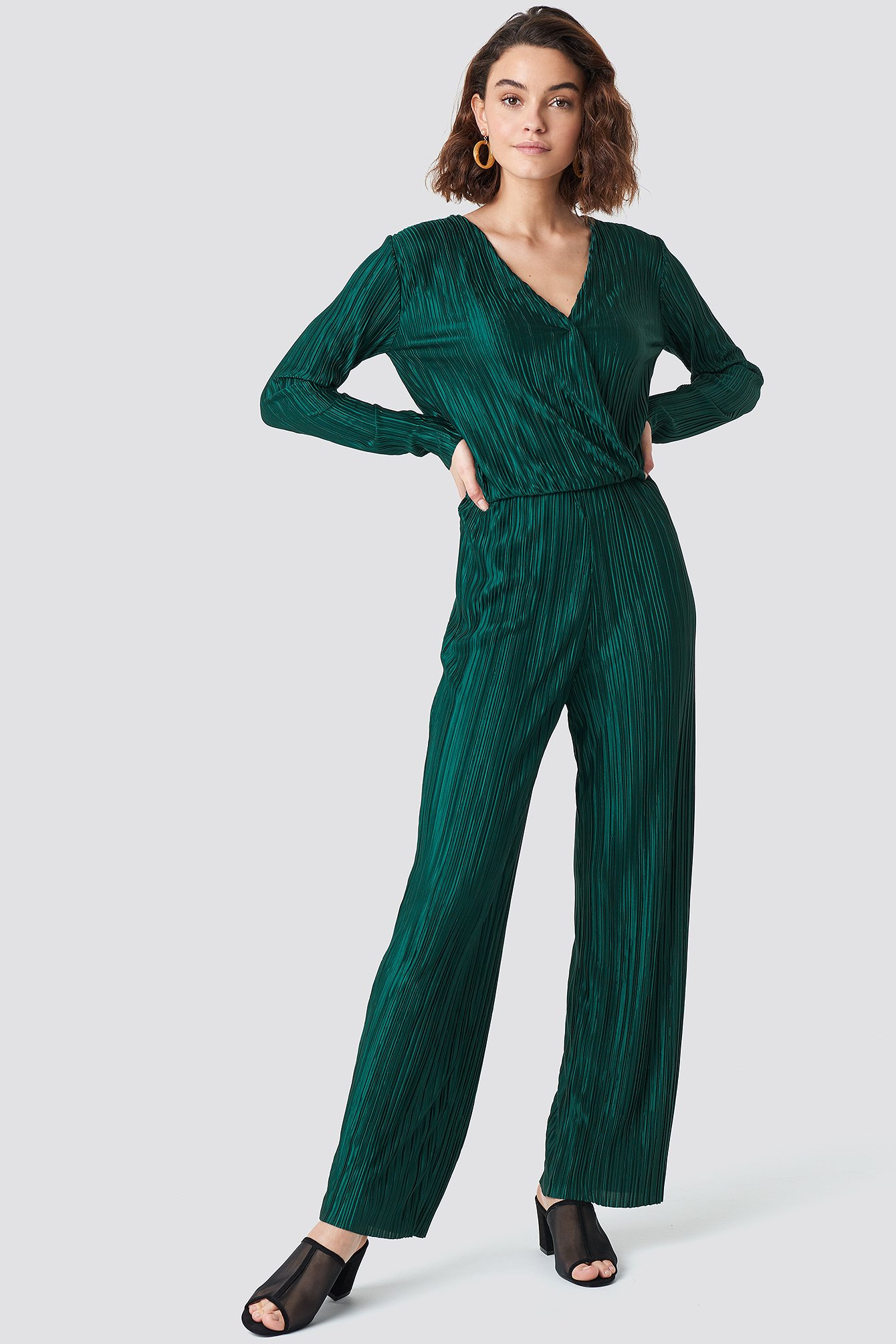 PLEATED JUMPSUIT - GREEN