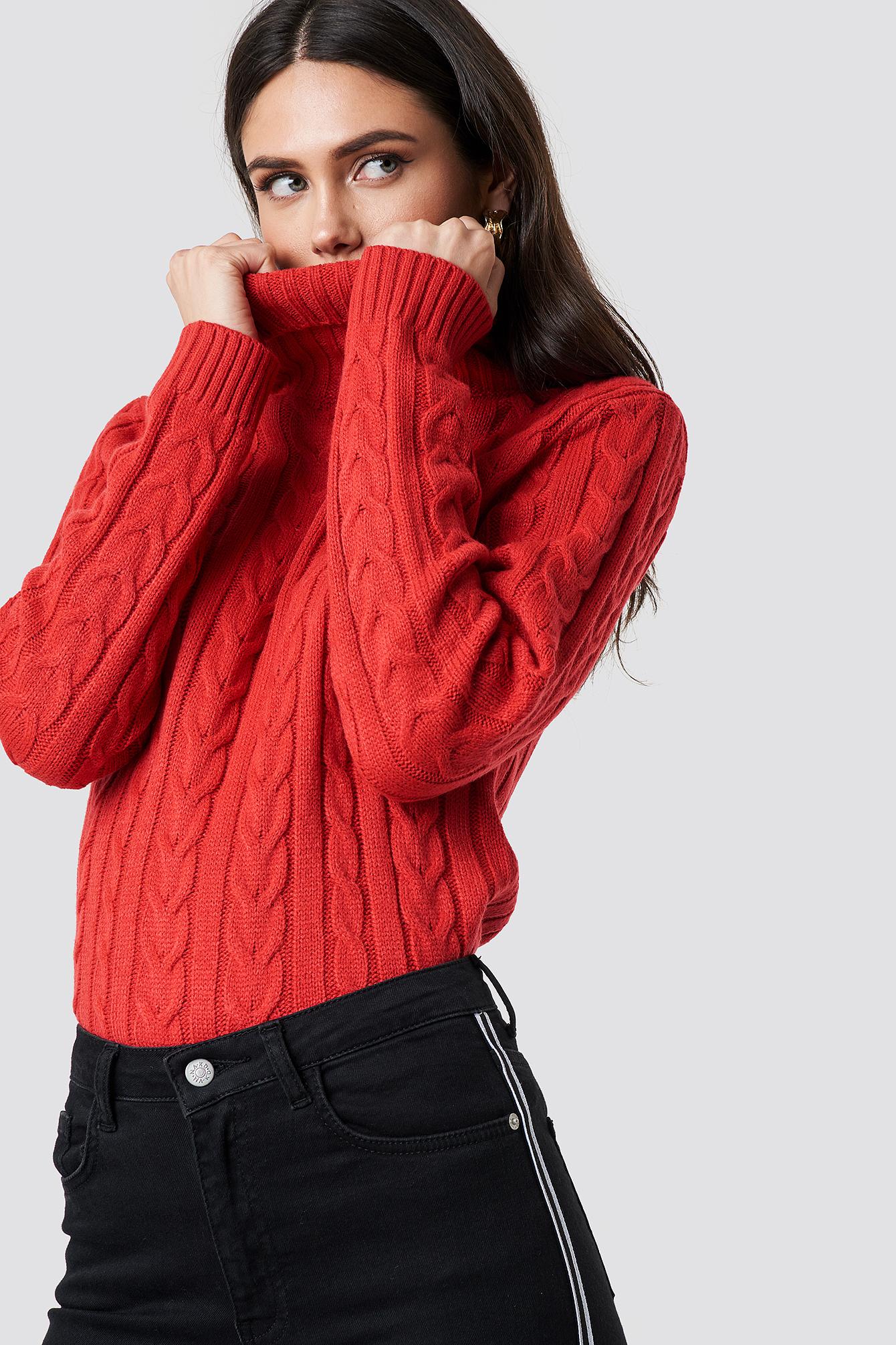 rut&circle -  Polo Braid Knit - Red