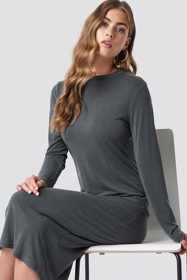 Polo Midi Dress Grey