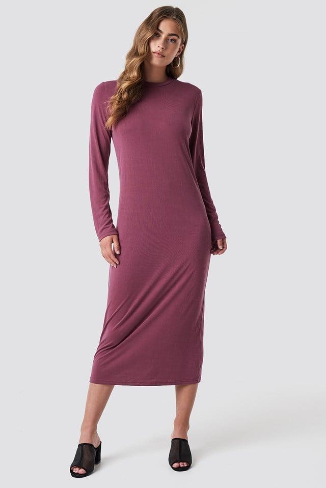 Polo Midi Dress Wine Red