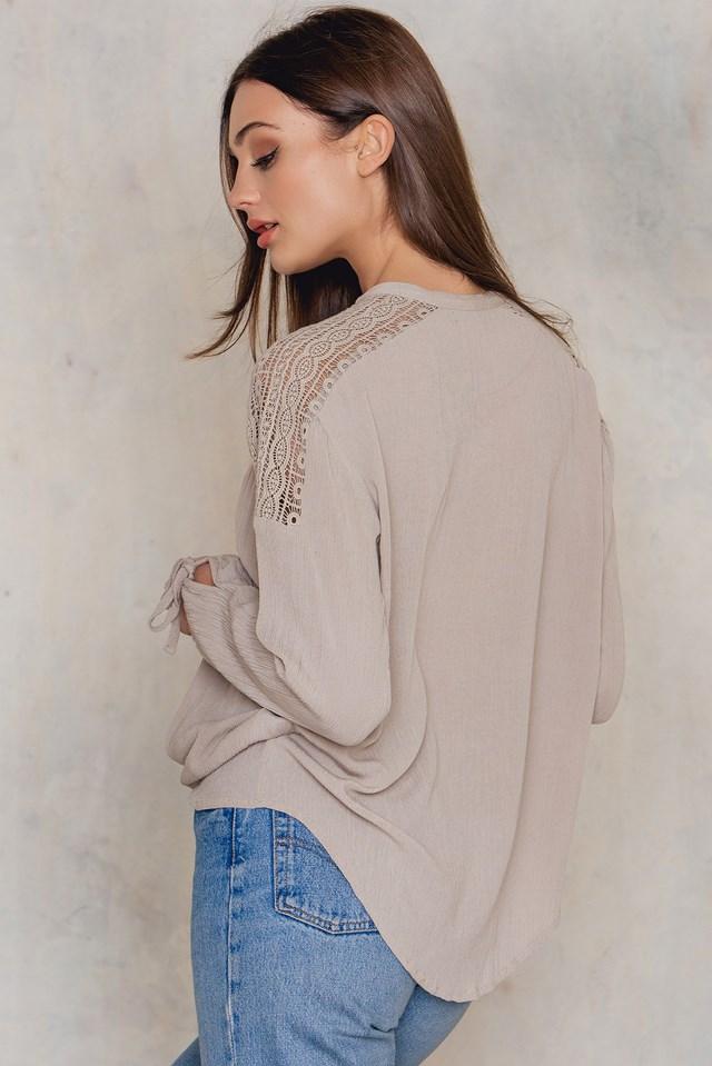 Poppy blouse Clay Gray