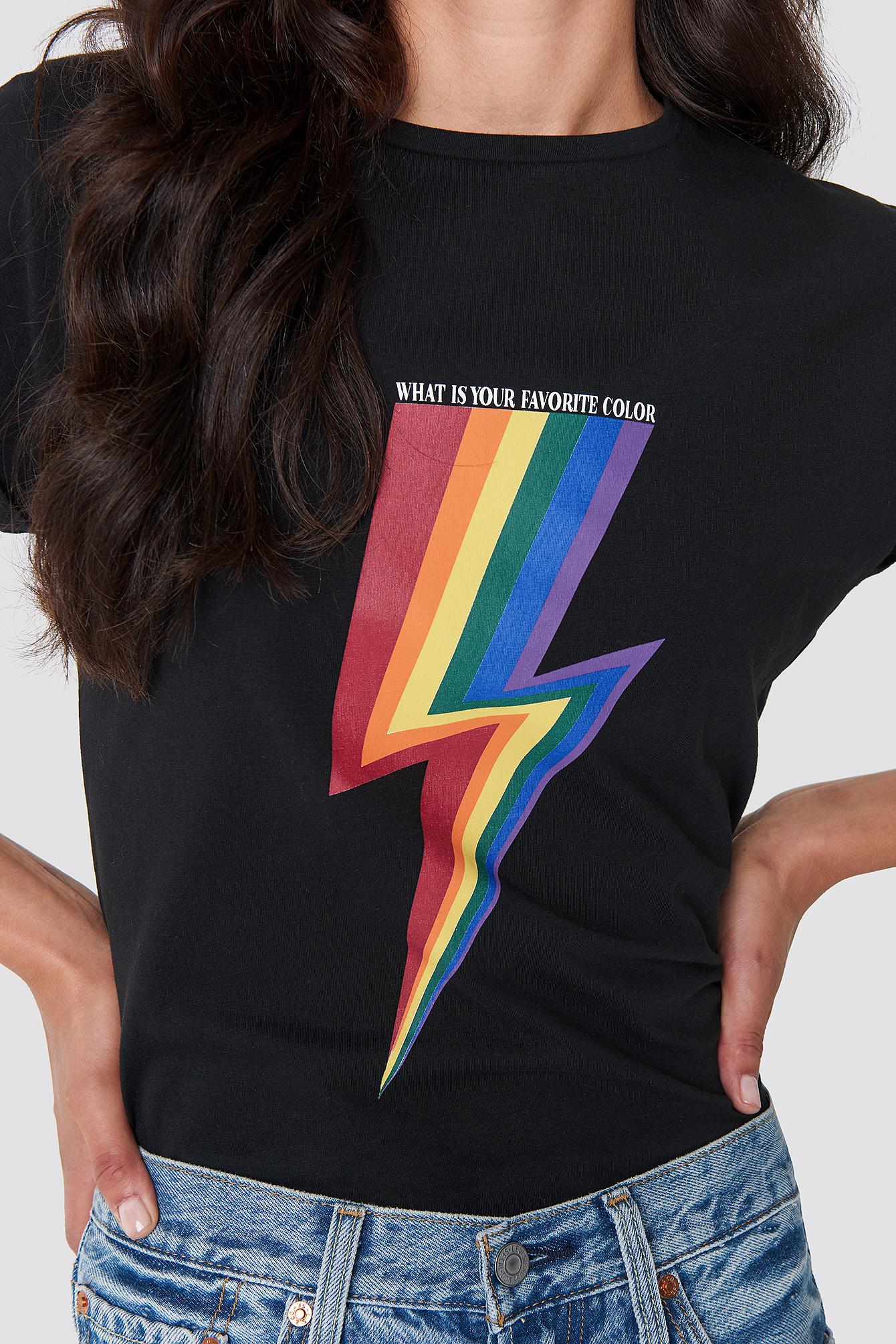 Rainbow Flash Tee NA-KD.COM