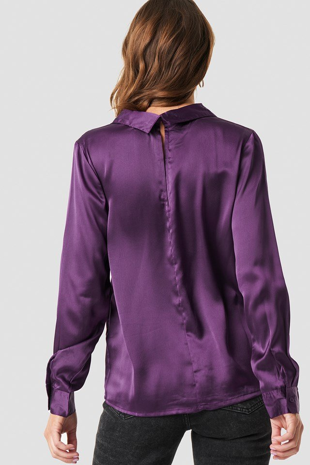Rebecka satin shirt Purple