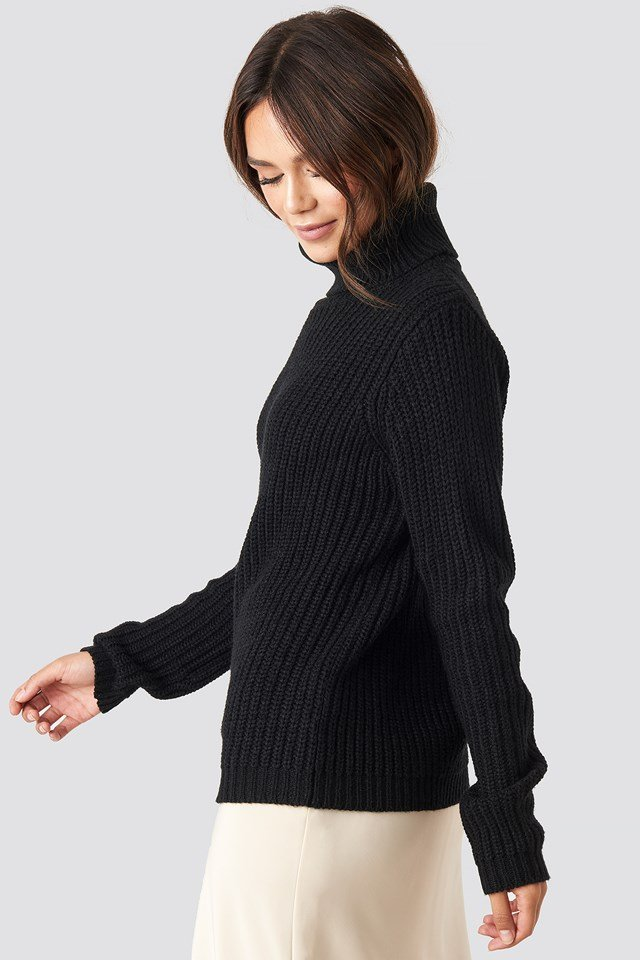 Tinelle Rollneck Knit Black