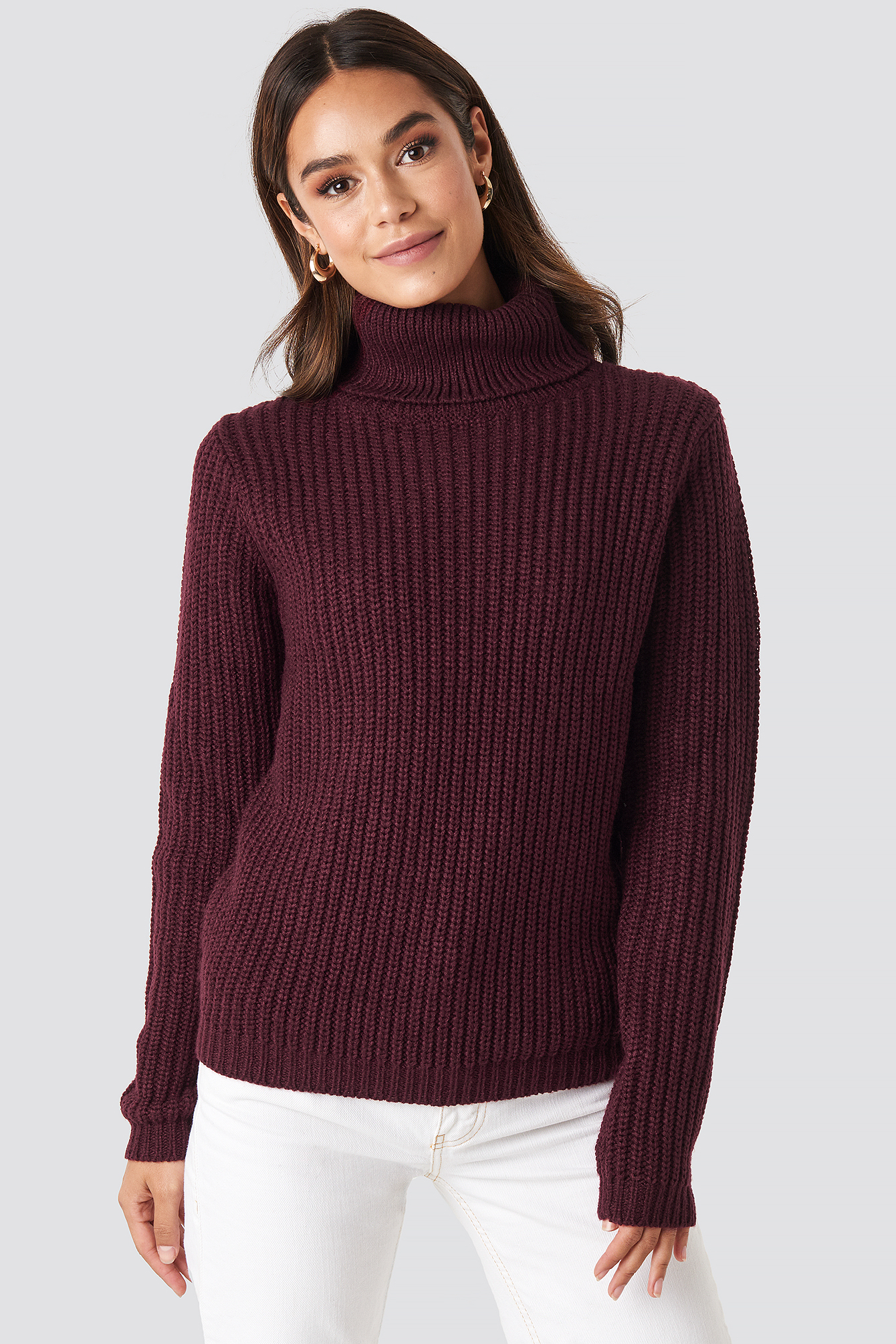 rut&circle -  Tinelle Rollneck Knit - Red