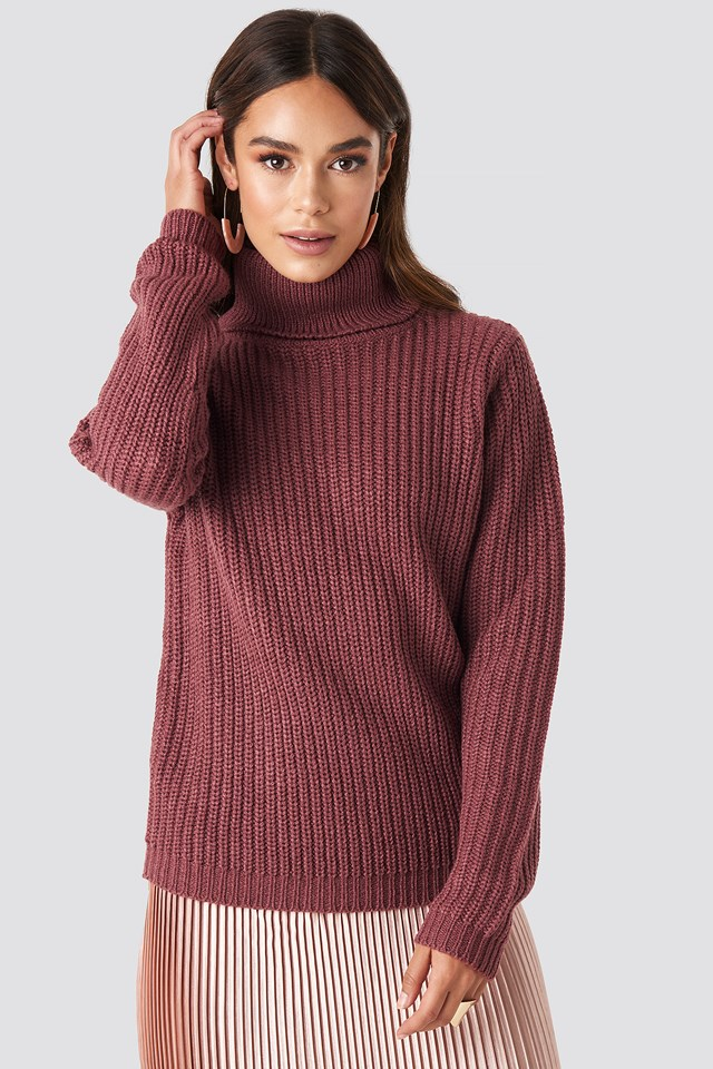 Tinelle Rollneck Knit Old Rose