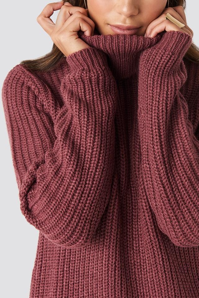 Tinelle Rollneck Knit Old Rose