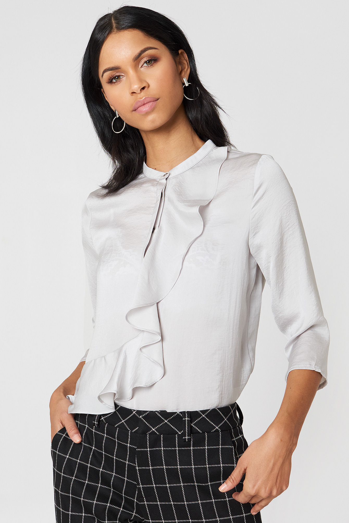 ROSALIE BLOUSE - GREY