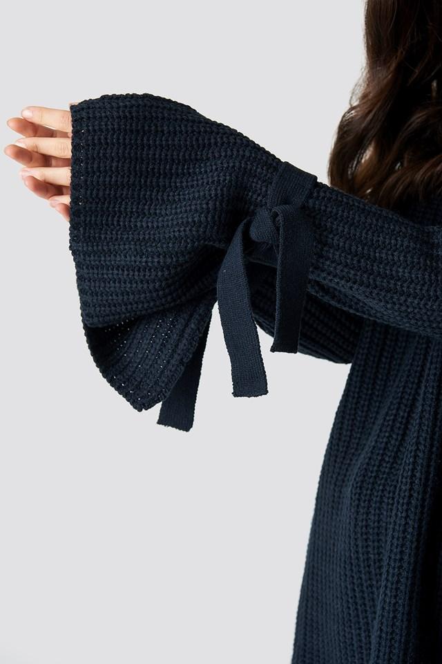 Samira Knot Knit DK Navy