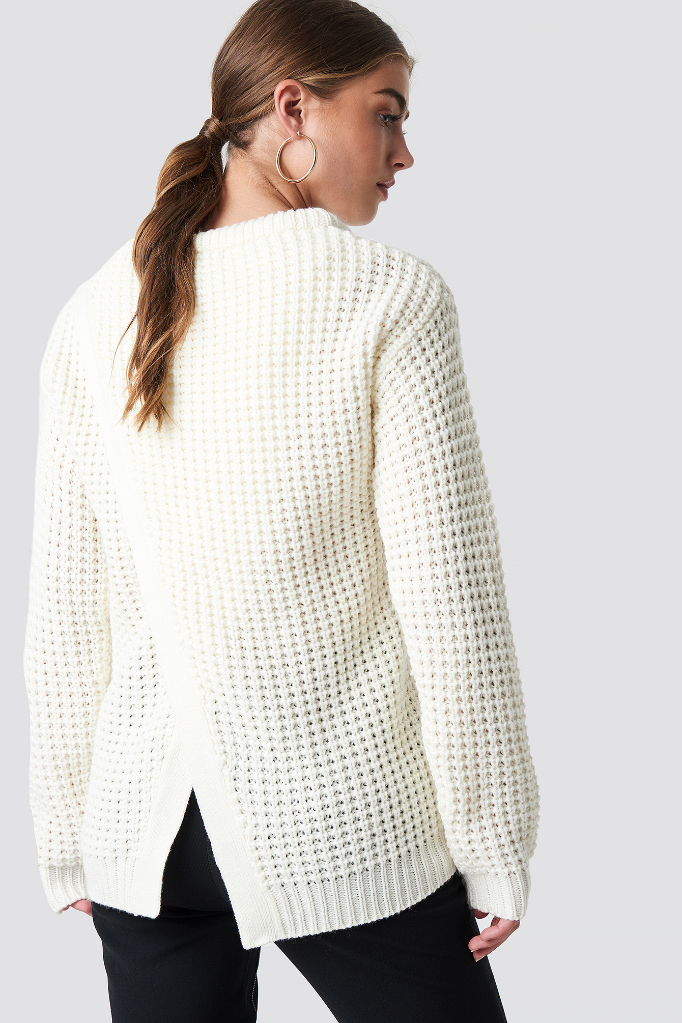 SAMIRA OPEN BACK KNIT - WHITE, OFFWHITE
