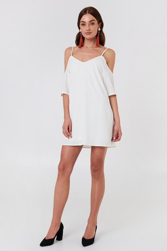Sanna Frill Dress White