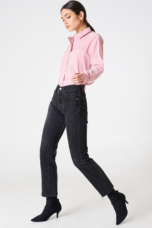 Selma Chambray Shirt Pink