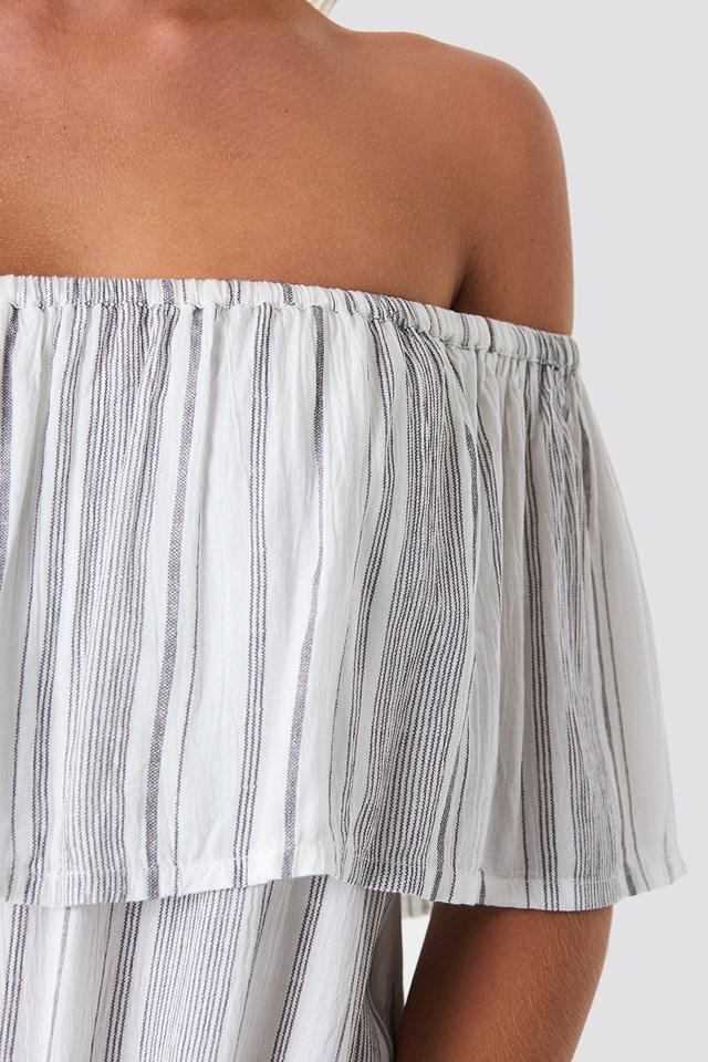 Singoalla Stripe Dress Grey/White