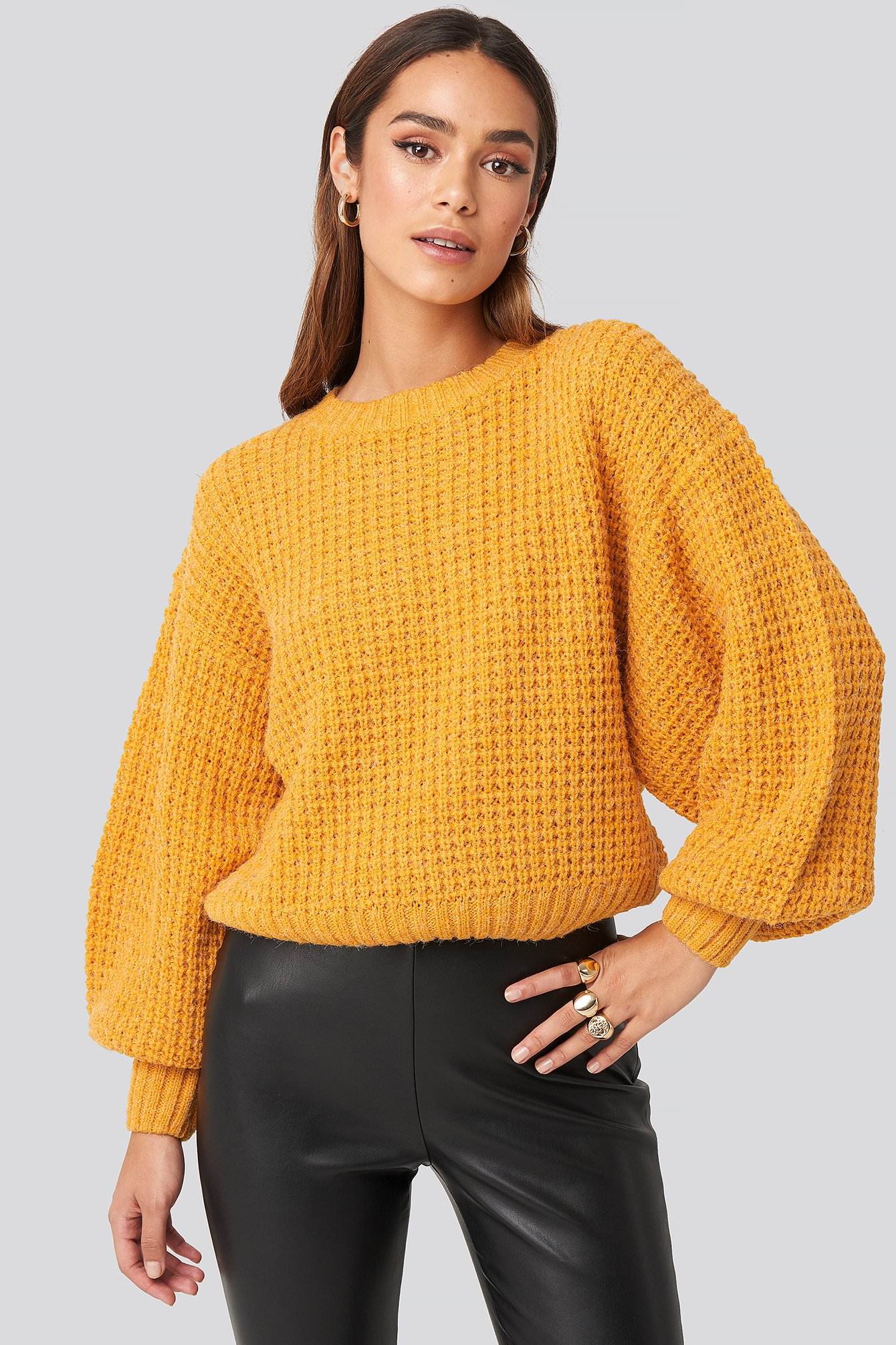 rut&circle -  Siri Balloon Knit - Yellow
