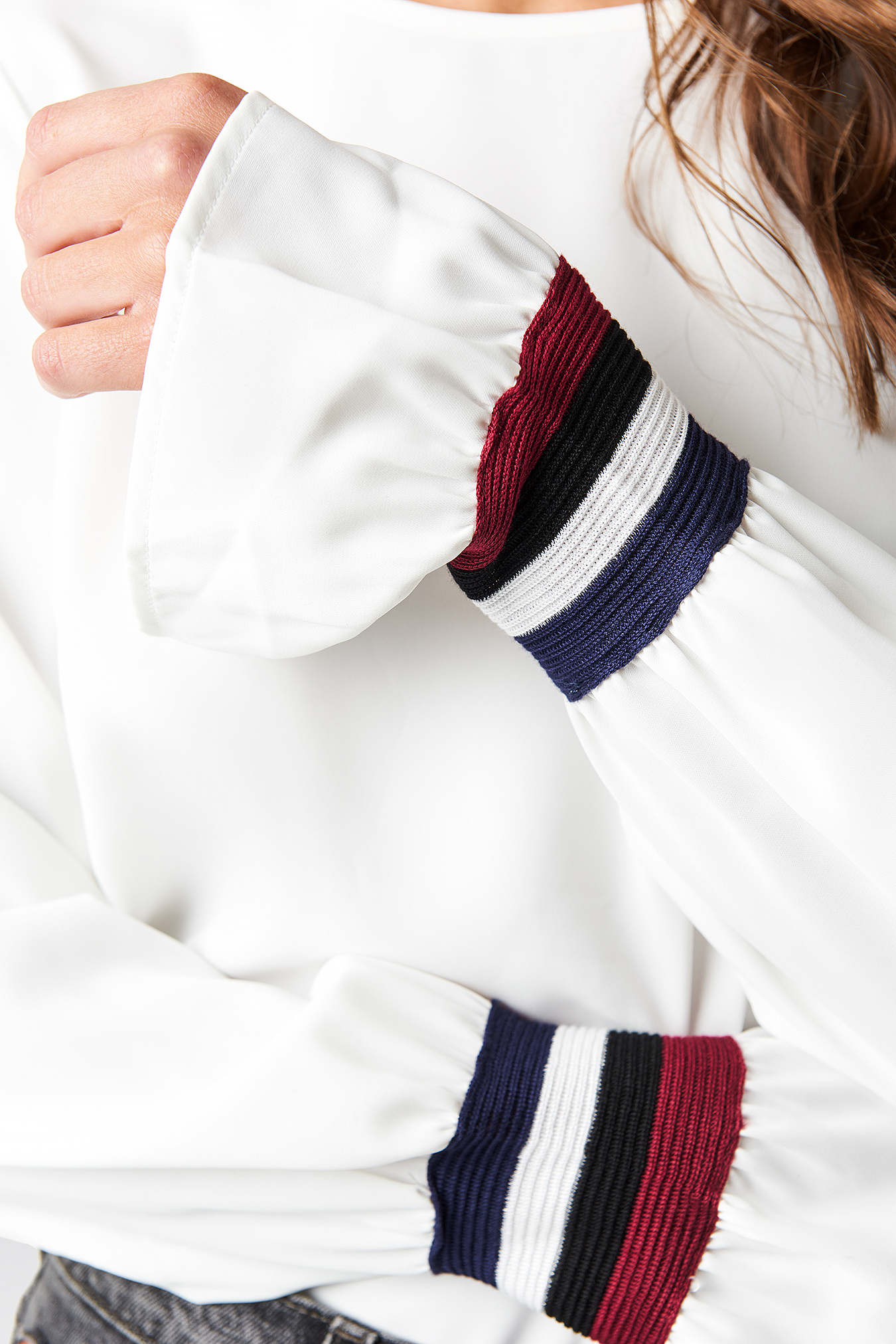 Sleeve Stripe Blouse  NA-KD.COM