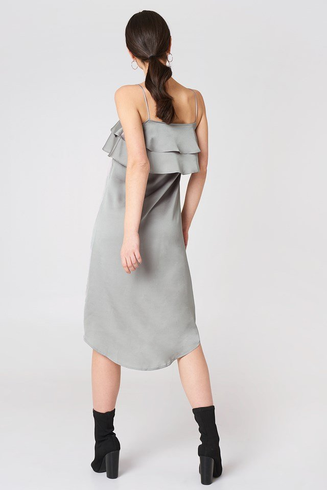 Sofie Frill Dress Silver