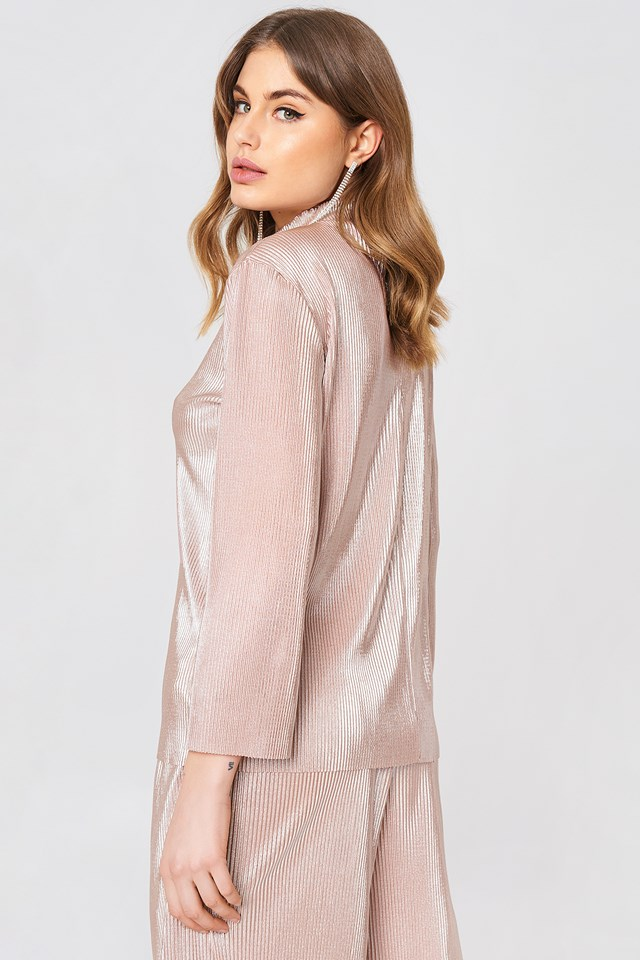 Stella Pleat Top Rose Pink
