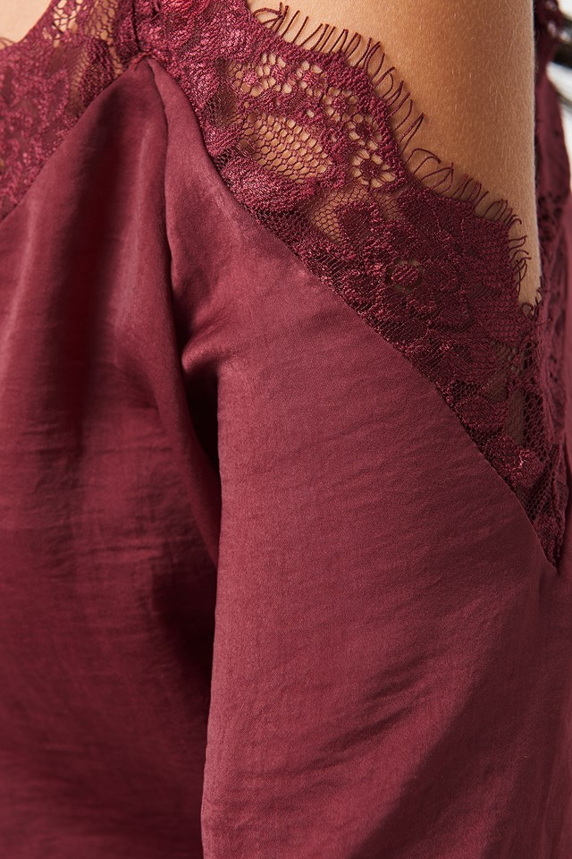Stine Lace Blouse Old Rose