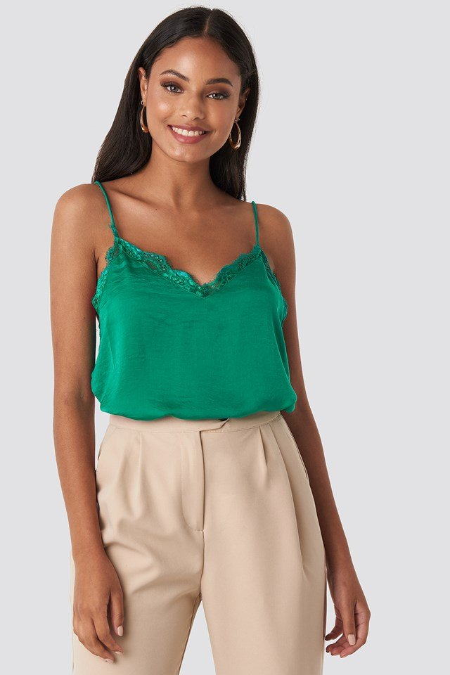 Stine Lace Singlet Preppy Green