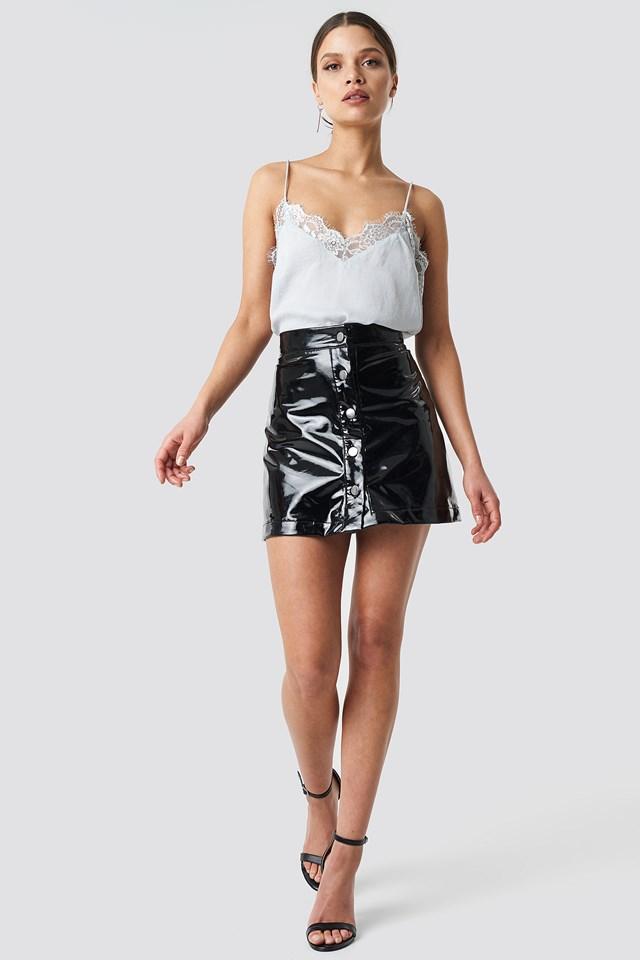Stine Lace Singlet Silver