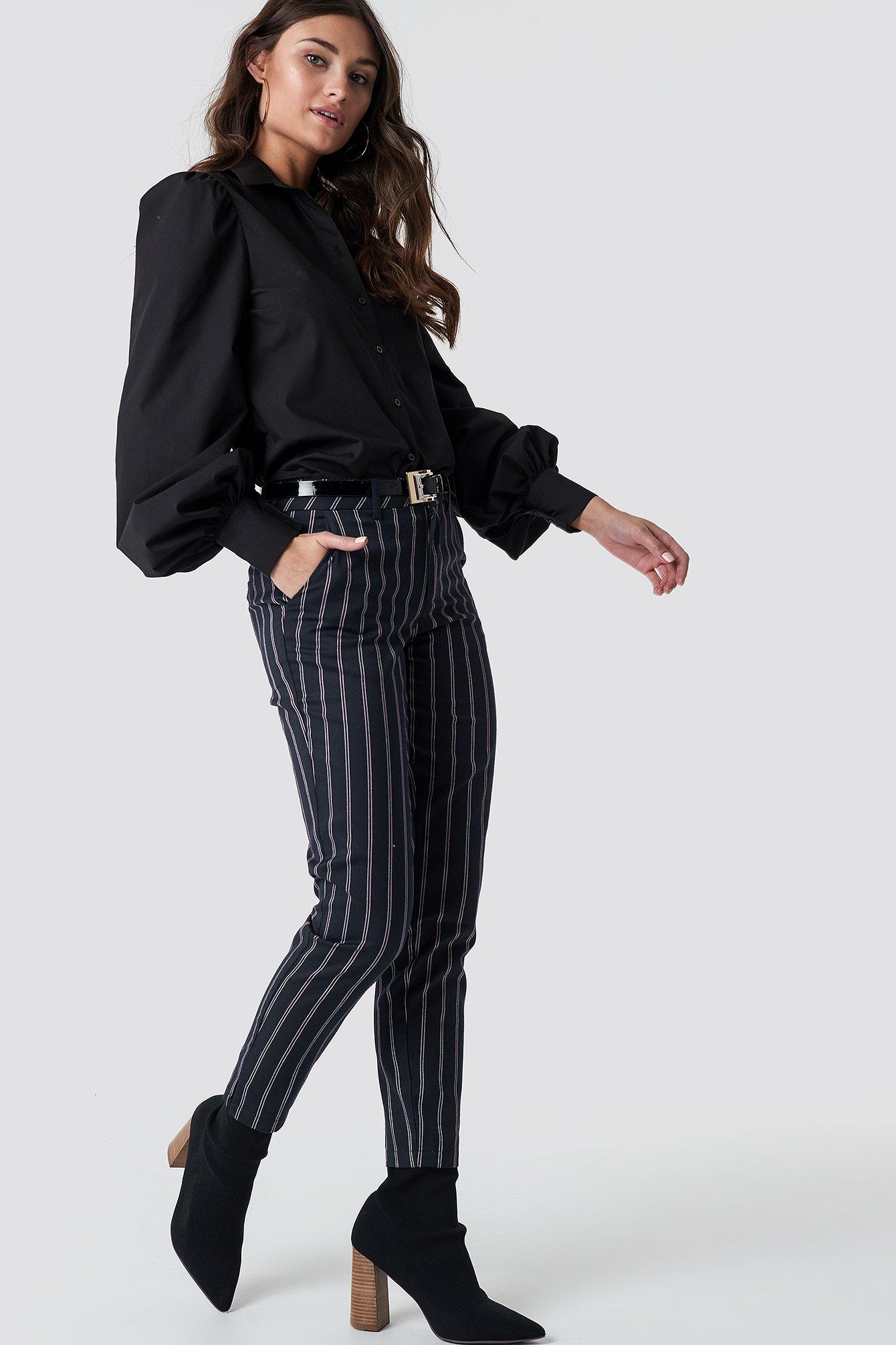 rut&circle -  Malin Stripe Pant - Blue