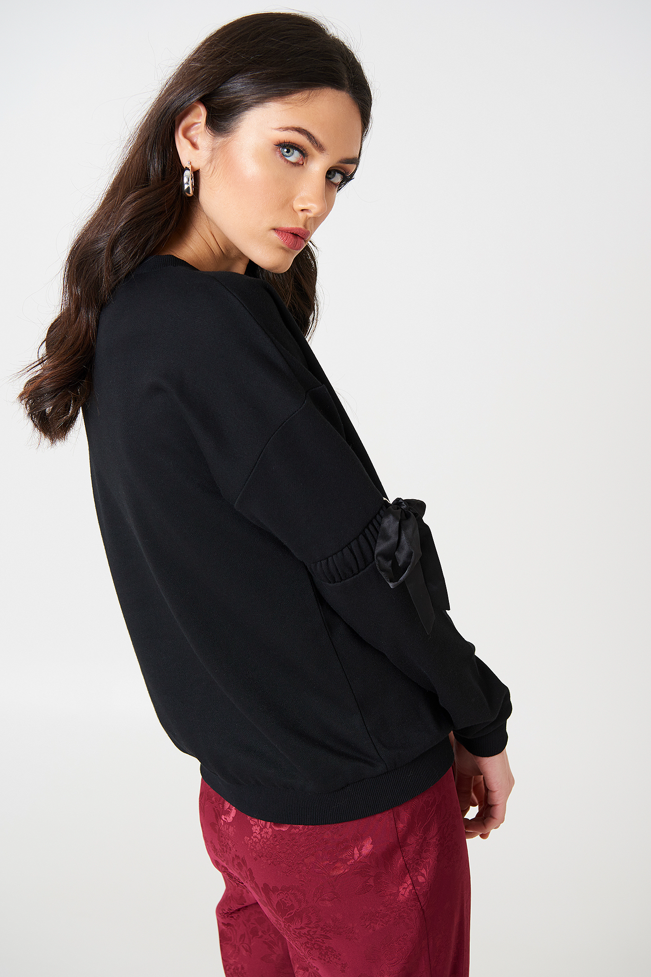 Thora Elastic Sleeve Sweat NA-KD.COM