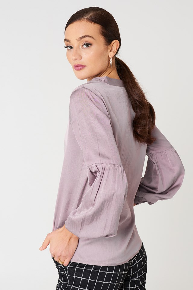 Tina Puff Sleeve Blouse Lavender