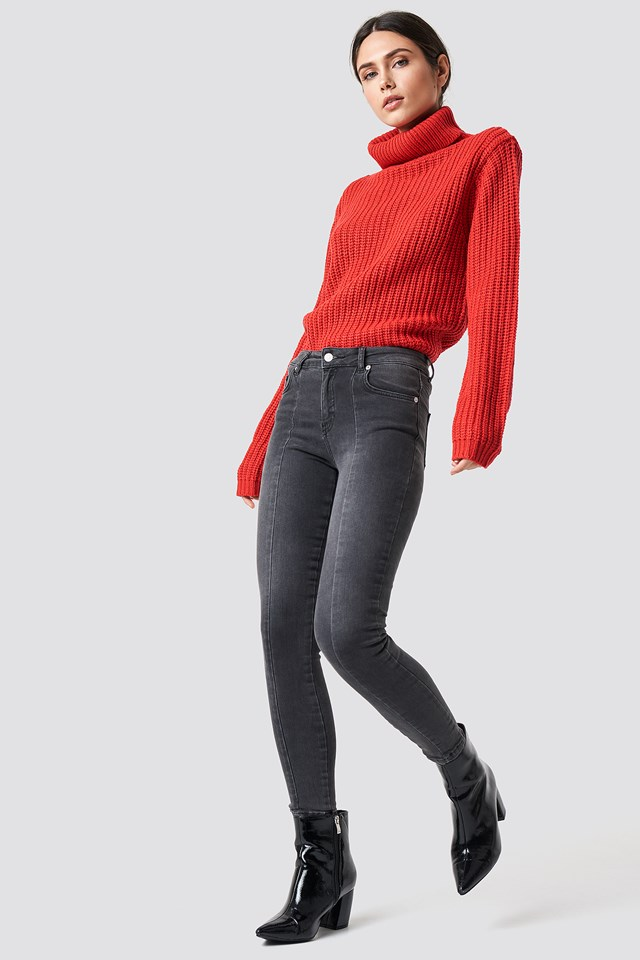 Tinelle rollneck knit Red