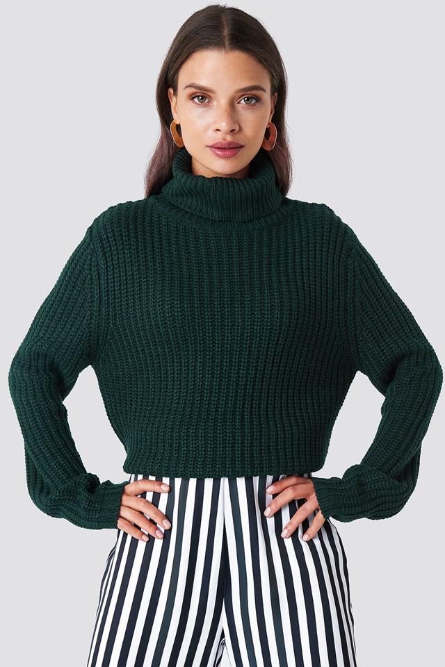 Tinelle rollneck knit Dark Green