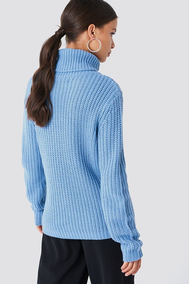Tinelle rollneck knit Mid Blue