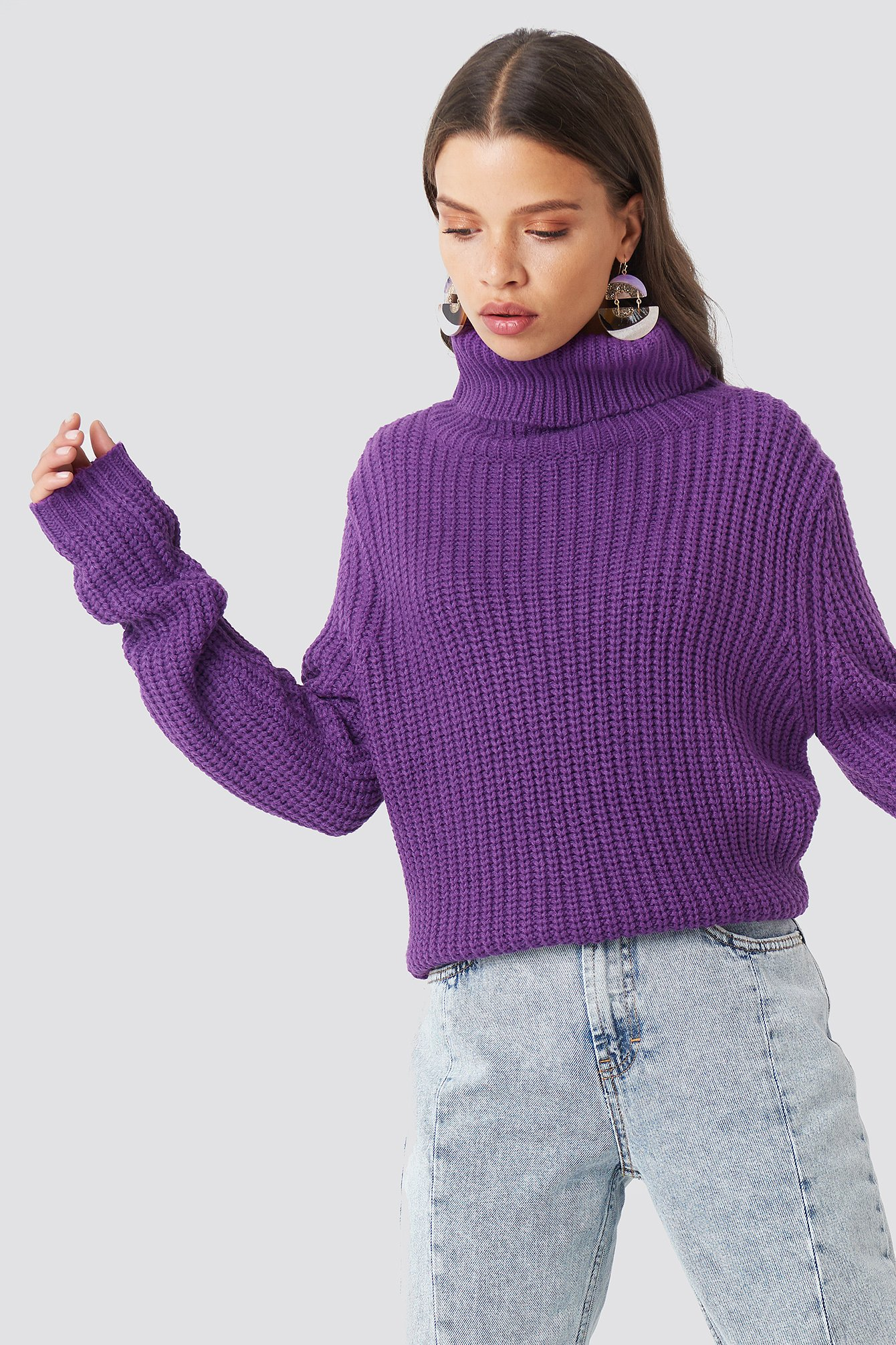 RUT & CIRCLE Tinelle Rollneck Knit - Purple