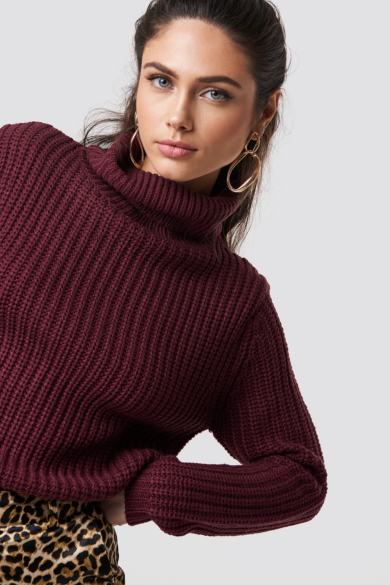 RUT & CIRCLE Tinelle Rollneck Knit - Red