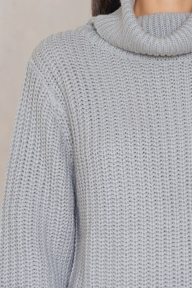 Tinelle rollneck knit LT Grey