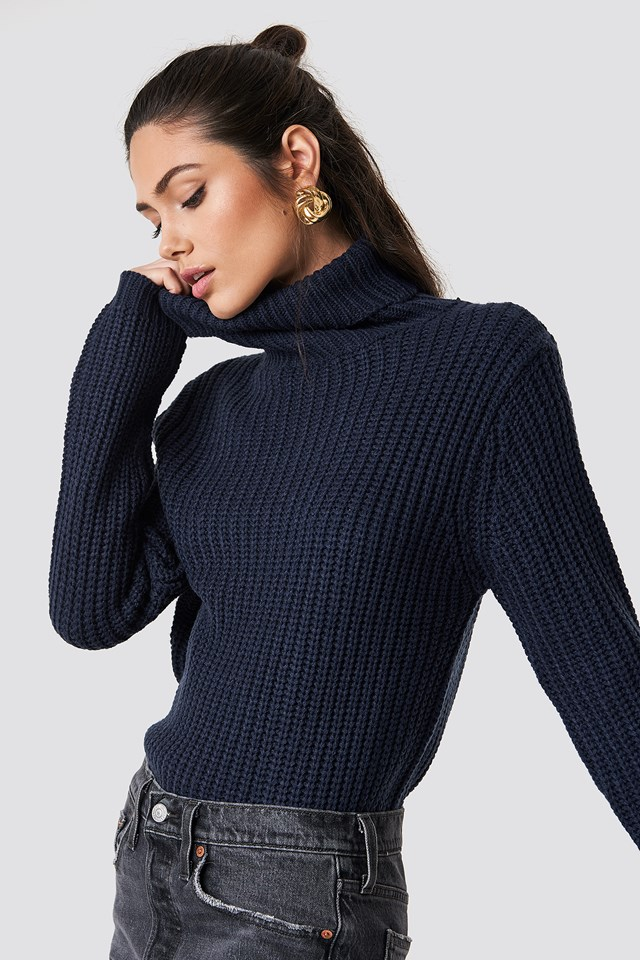 Tinelle rollneck knit Midnight Blue