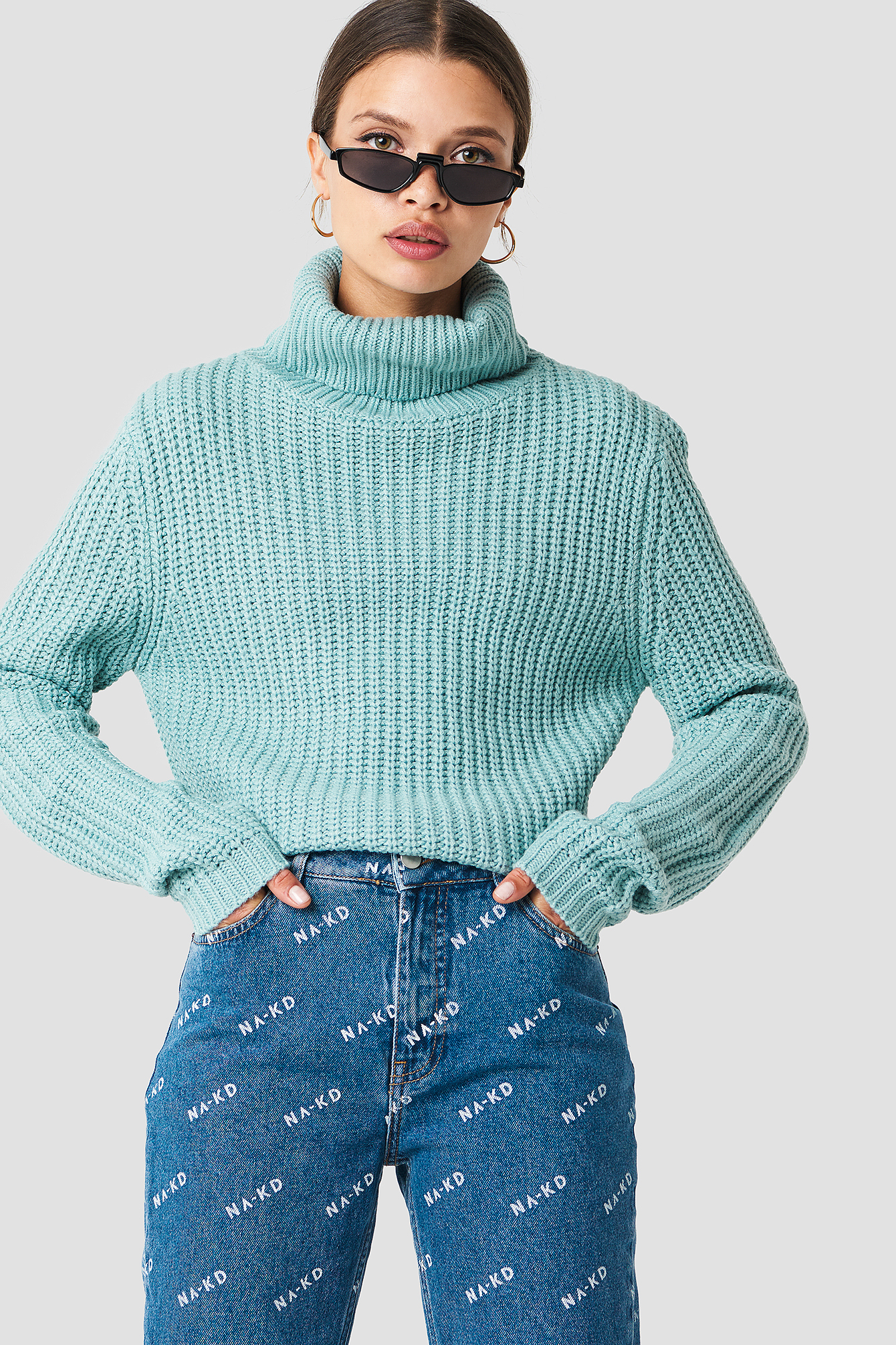 rut&circle -  Tinelle rollneck knit - Turquoise