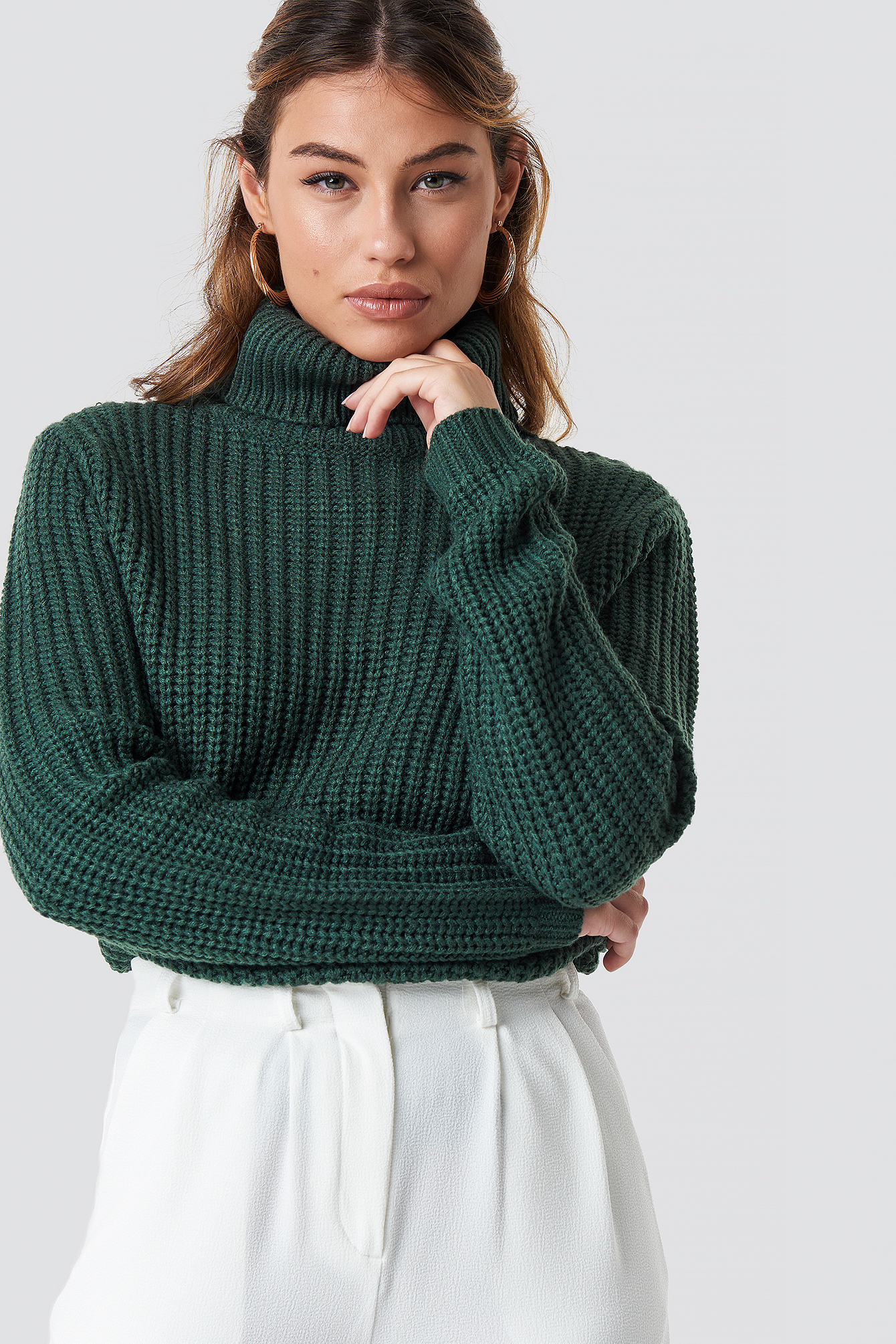 rut&circle -  Tinelle rollneck knit - Green