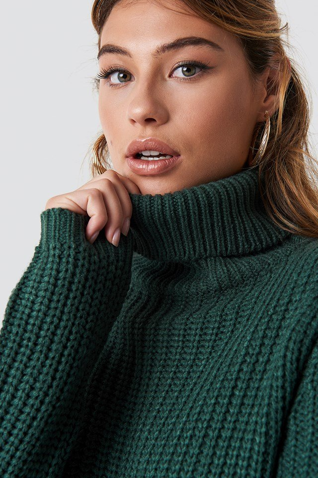 Tinelle rollneck knit Forest Green