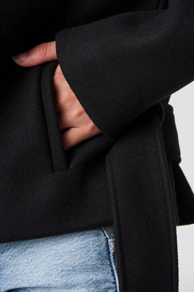 Tove Short Coat Black