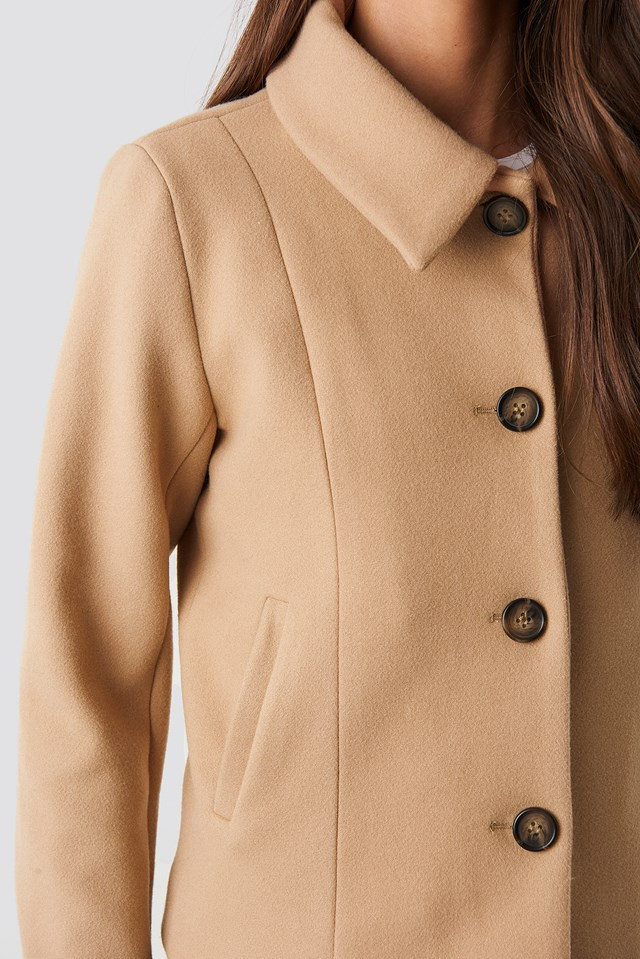 Tuva Short Coat Camel