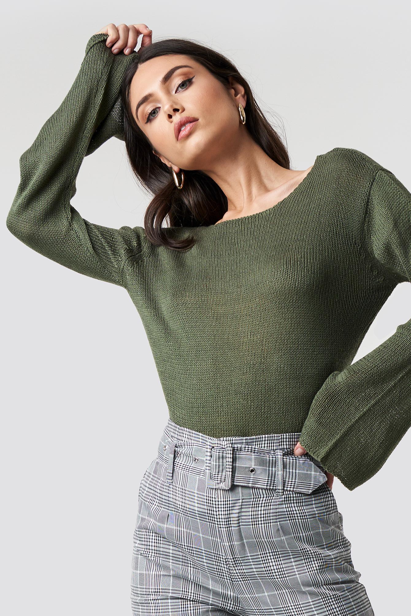 Vanessa Back V-neck Knit NA-KD.COM