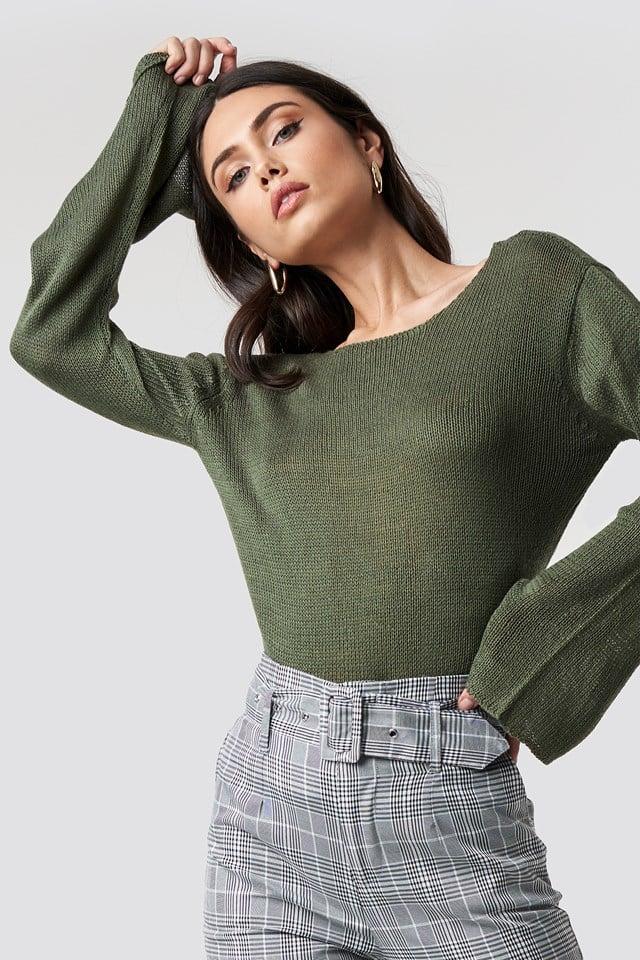 Sweter z dekoltem na plecach Vanessa Rut&Circle