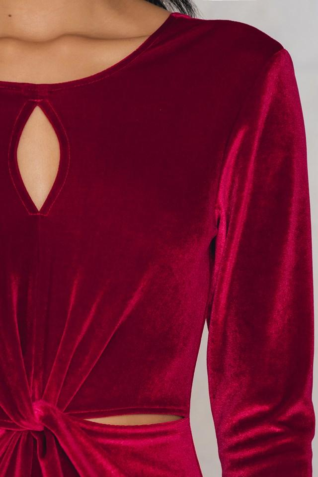 Adina velvet dress Rococco Red