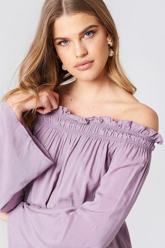 Venda Off Shoulder Top Lavender
