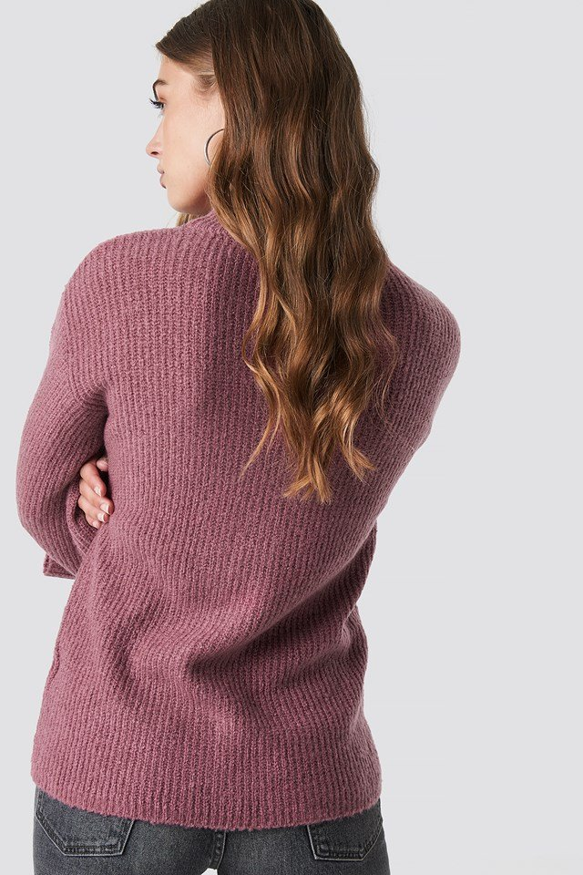 Wide Sleeve Pullover Old Rose