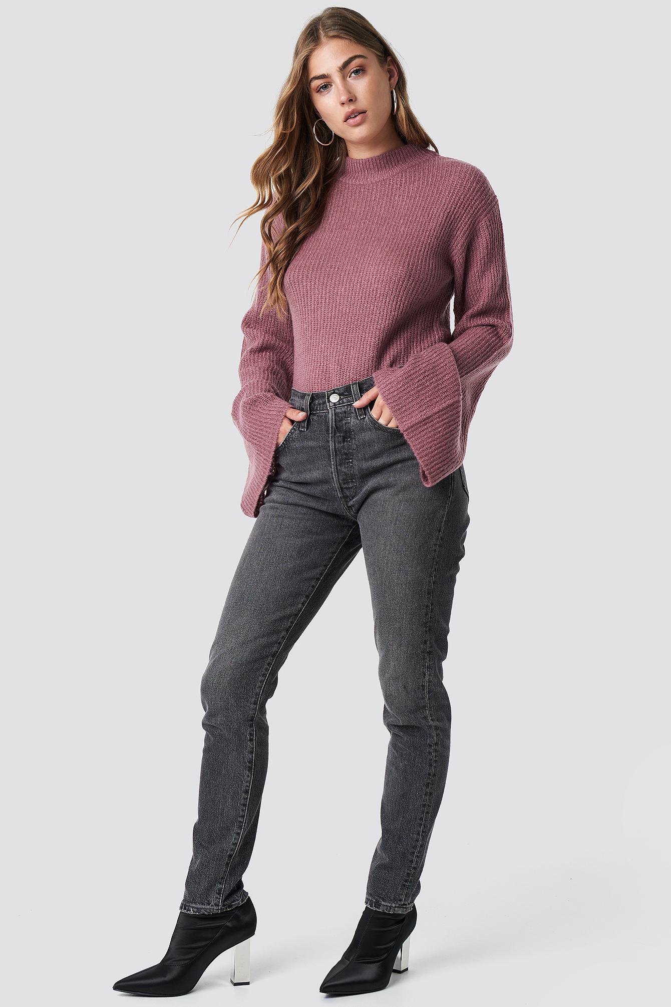 Sweter z szerokim rękawem NA-KD.COM