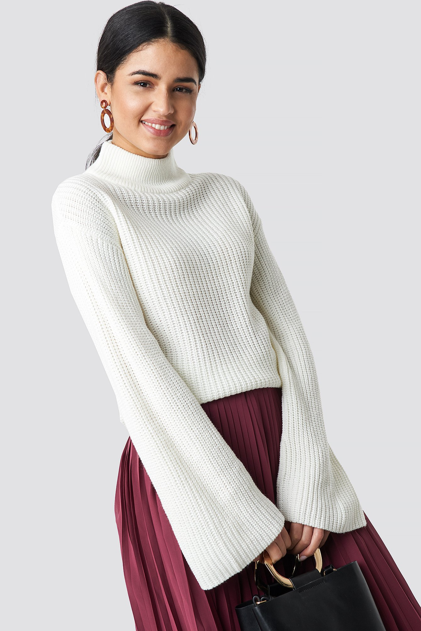 RUT & CIRCLE Wide Sleeve Pullover - White