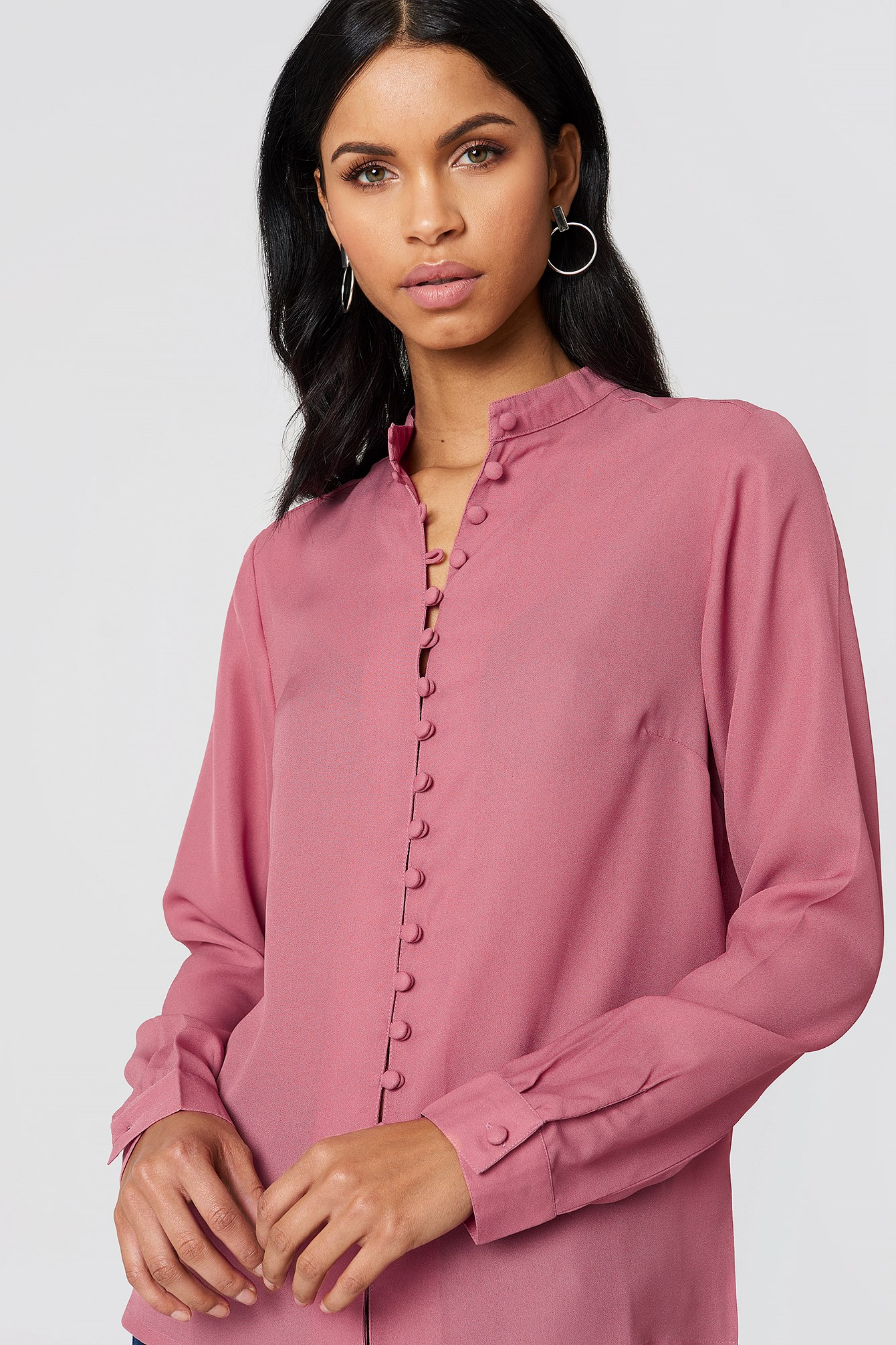Wilma Button Blouse NA-KD.COM